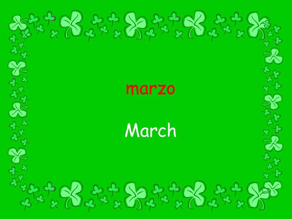 marzo March