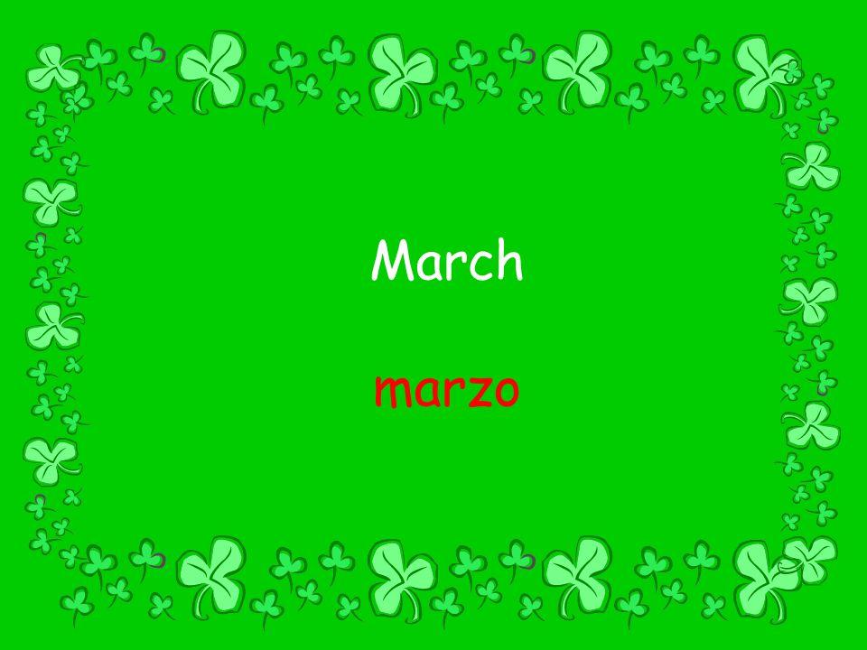March marzo