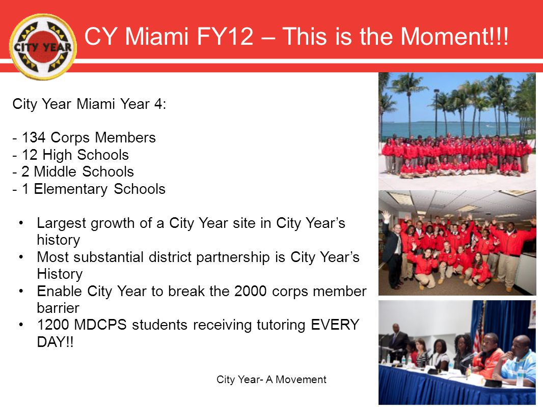 CY Miami FY12 – This is the Moment!!.