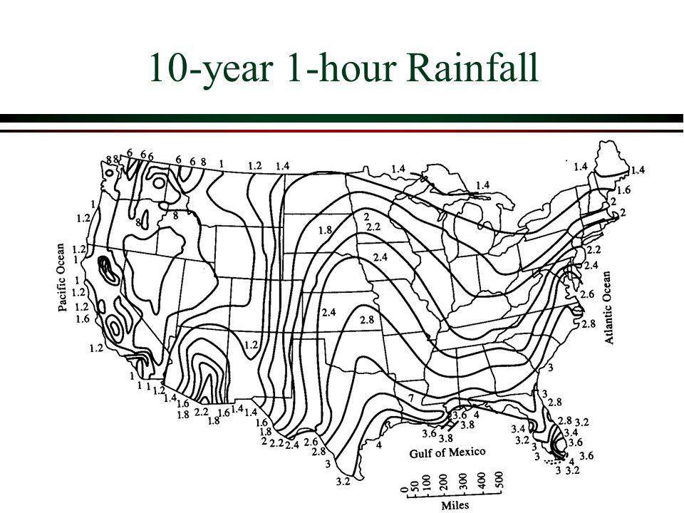 10-year 1-hour Rainfall