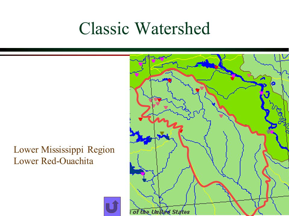 Classic Watershed Lower Mississippi Region Lower Red-Ouachita