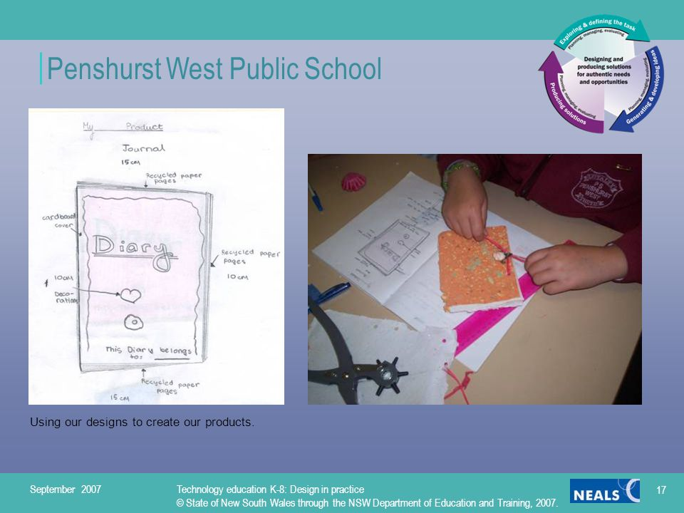 Penshurst West Public School Using our designs to create our products.