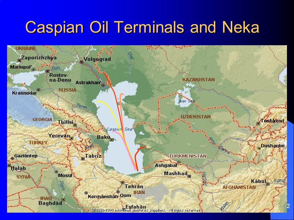 32 Caspian Oil Terminals and Neka