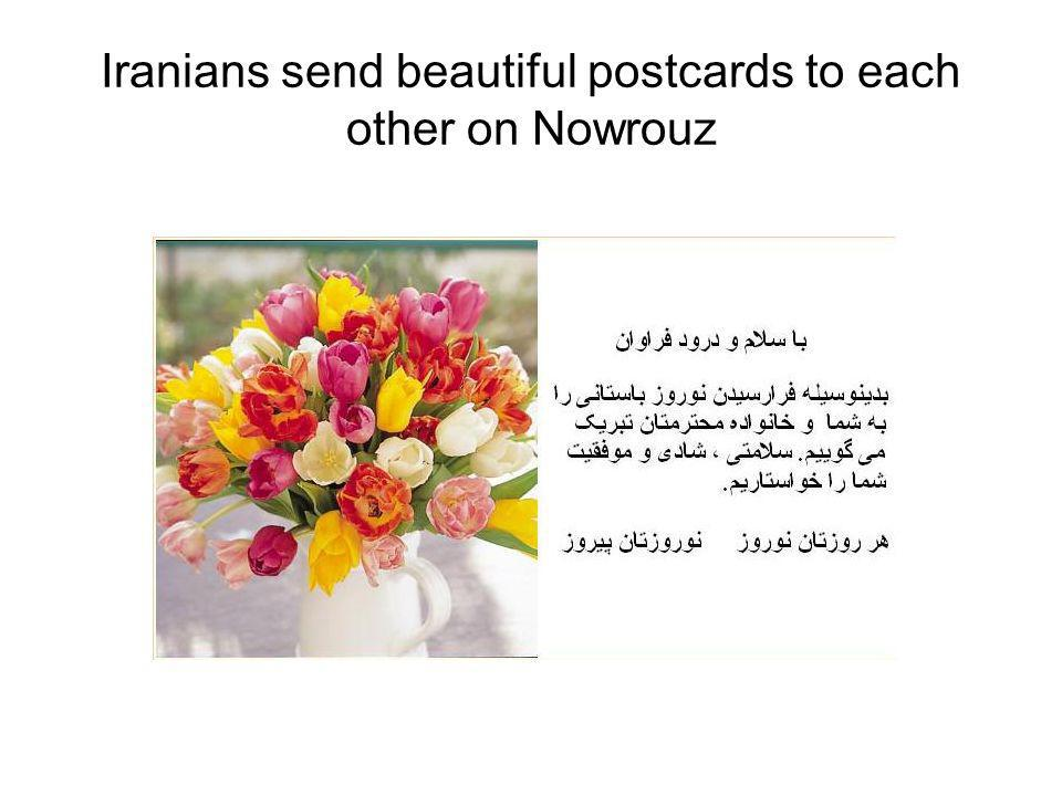 Iranians send beautiful postcards to each other on Nowrouz
