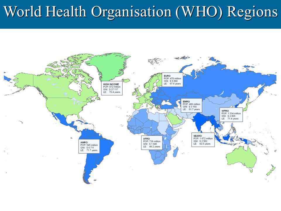 World Health Organisation (WHO) Regions