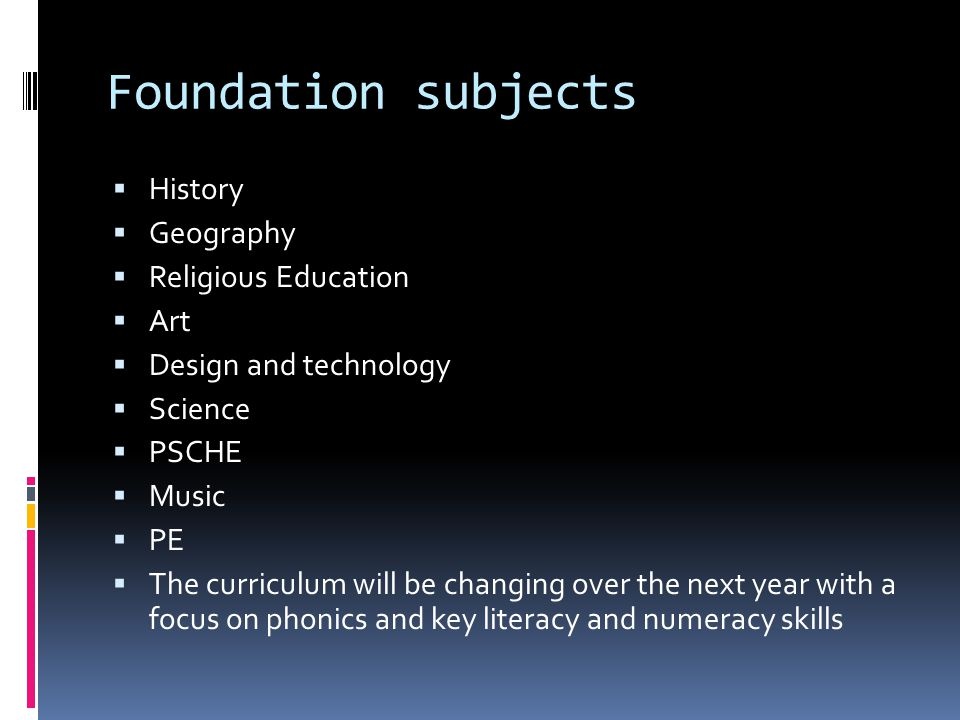 Our curriculum Themed approach to support basic skills.