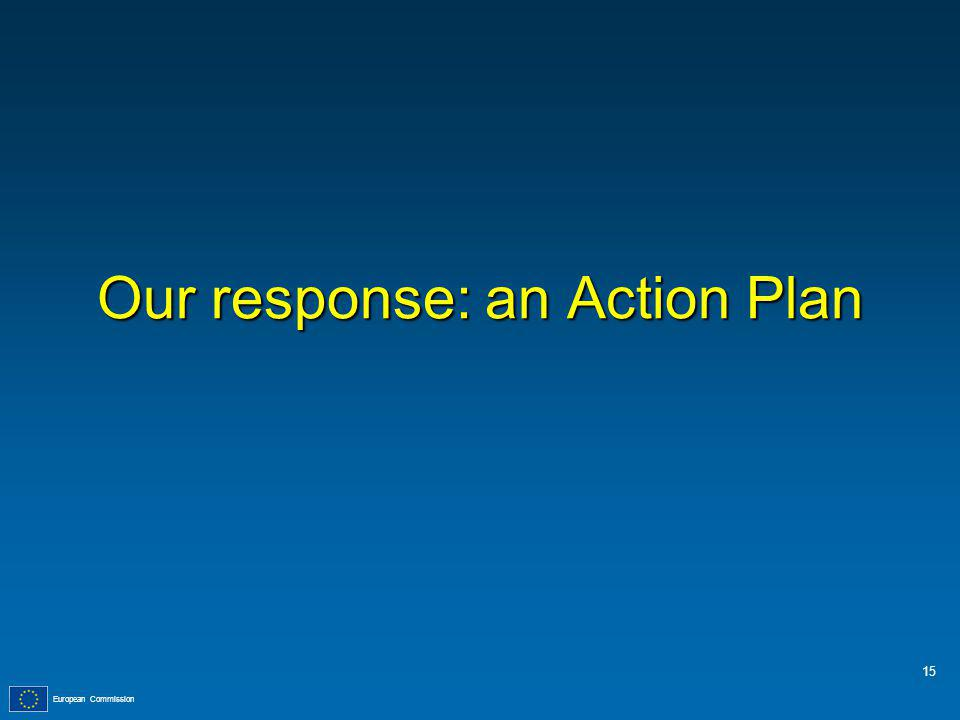European Commission Our response: an Action Plan 15