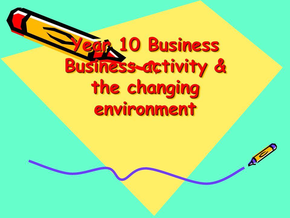 Year 10 Business Monday