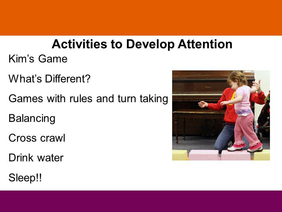 Activities to Develop Attention Kims Game Whats Different.