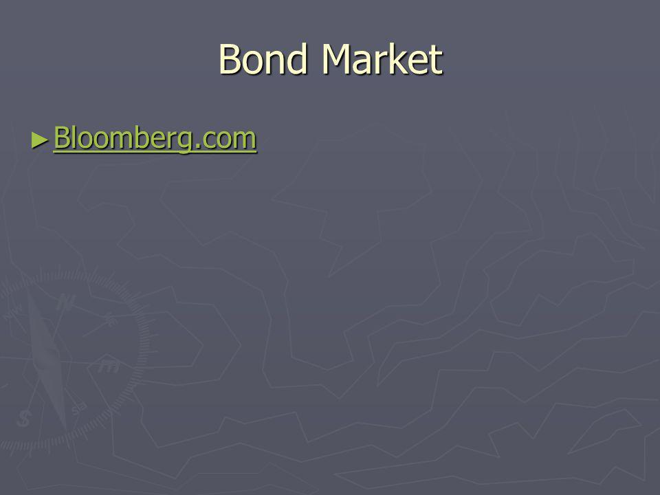 Bond Market Bloomberg.com Bloomberg.com Bloomberg.com