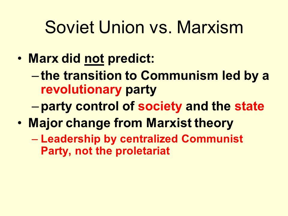 Soviet Union vs.
