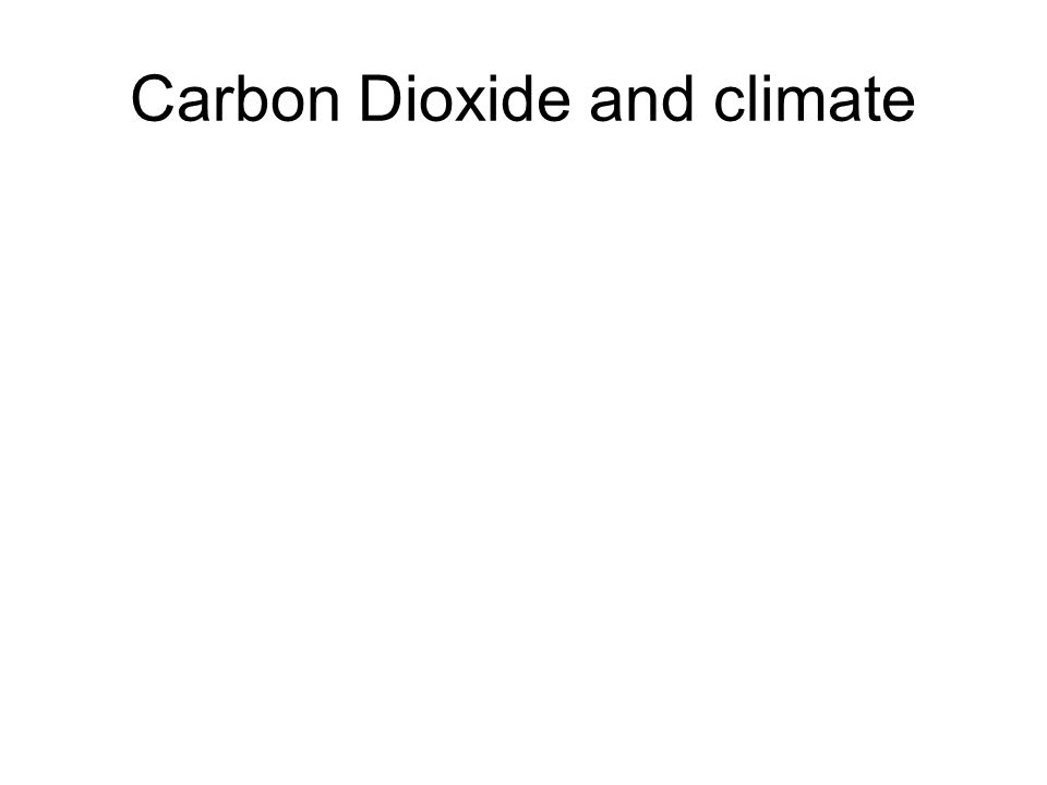 Carbon Dioxide and climate