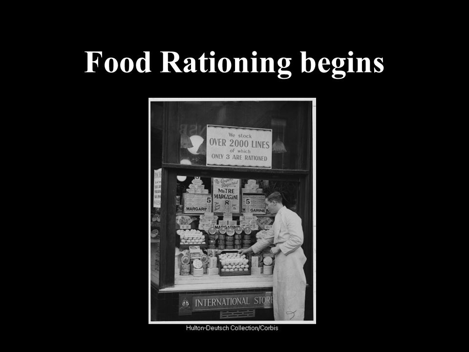 Food Rationing begins