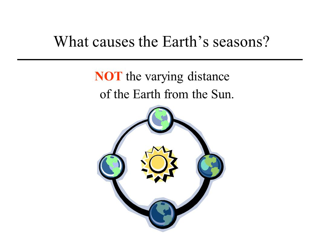 What causes the Earths seasons? NOT the varying distance of the Earth from the Sun.