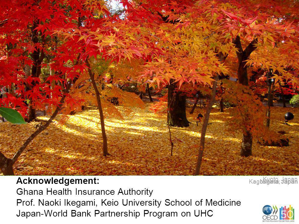 Acknowledgement: Ghana Health Insurance Authority Prof. Naoki Ikegami, Keio University School of Medicine Japan-World Bank Partnership Program on UHC
