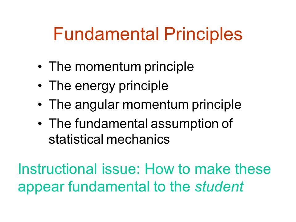 The Momentum Principle Not central in traditional curriculum; comes very late in course In M&I, start with Momentum central to the entire course Clear separation from KE and L