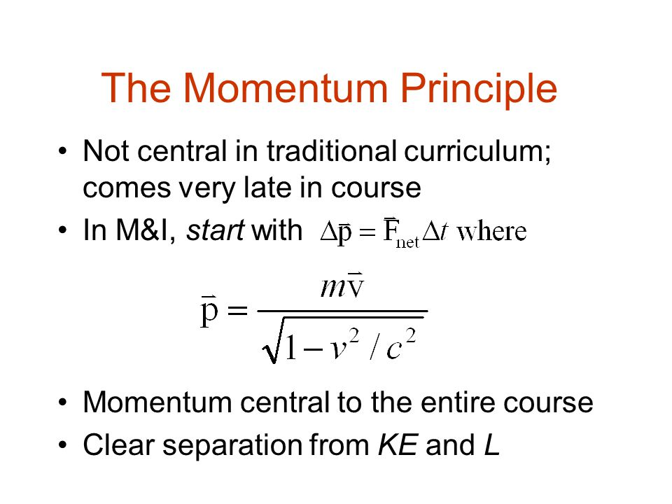 The Energy Principle: Two interacting particles (low speed so U is meaningful)