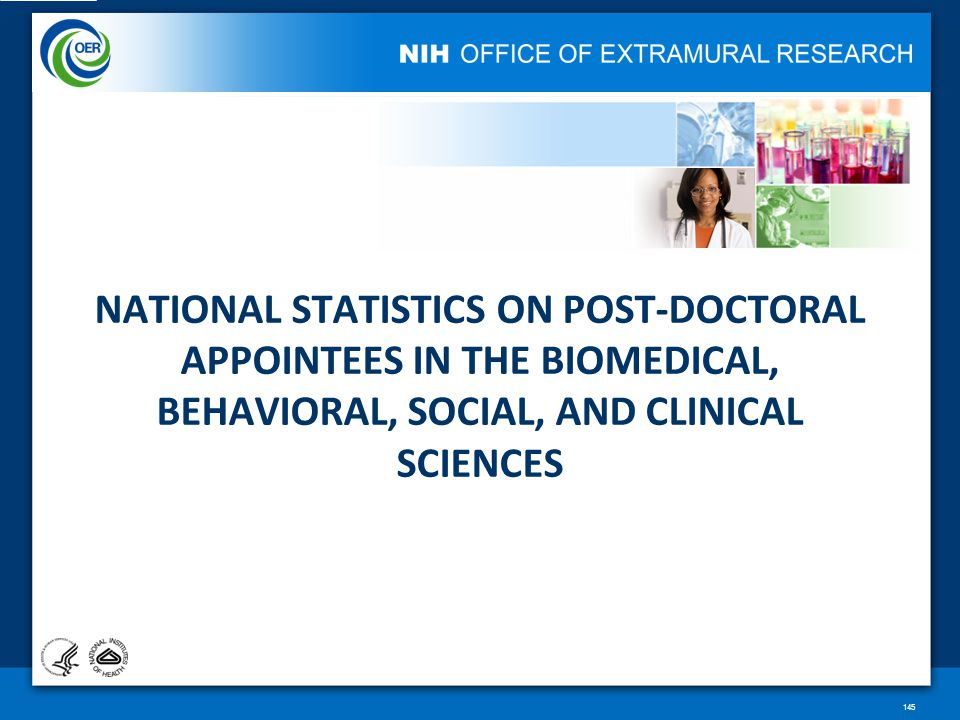 NATIONAL STATISTICS ON POST-DOCTORAL APPOINTEES IN THE BIOMEDICAL, BEHAVIORAL, SOCIAL, AND CLINICAL SCIENCES 145