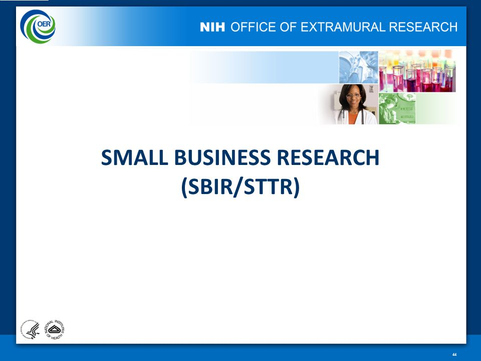 SMALL BUSINESS RESEARCH (SBIR/STTR) 44