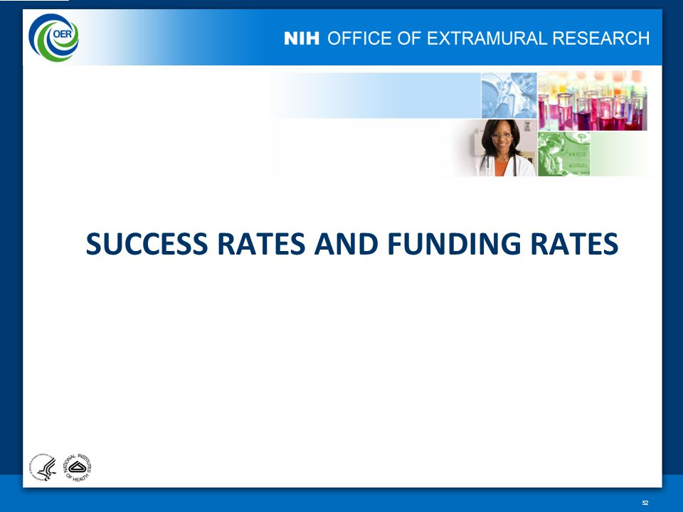 SUCCESS RATES AND FUNDING RATES 52