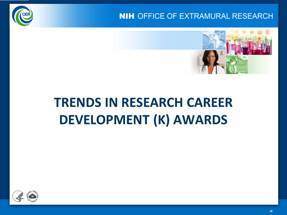 TRENDS IN RESEARCH CAREER DEVELOPMENT (K) AWARDS 88