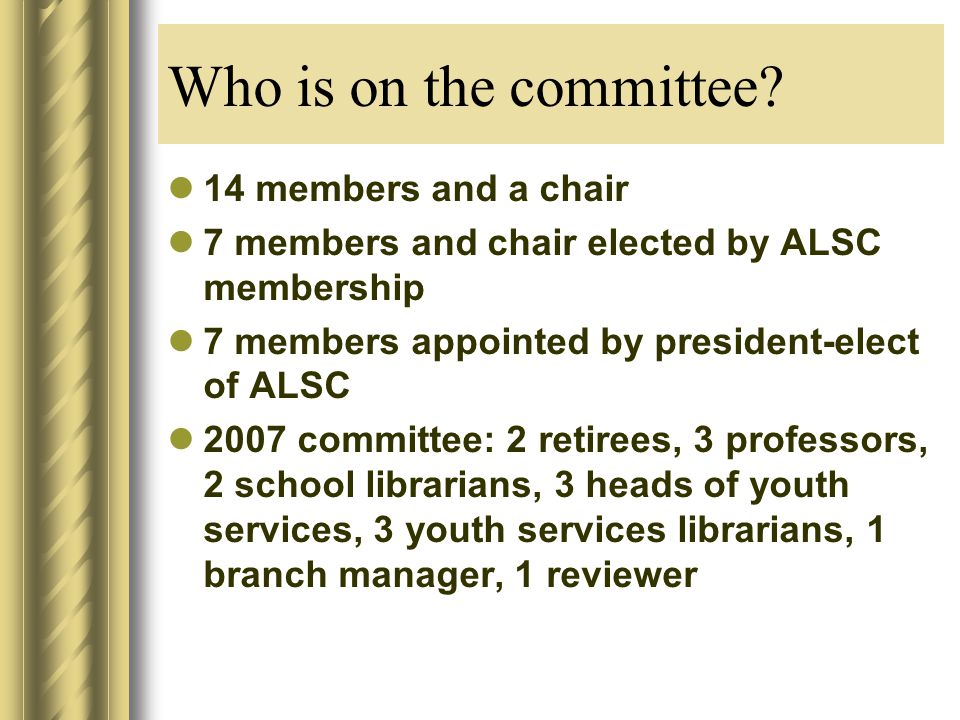 Who is on the committee.