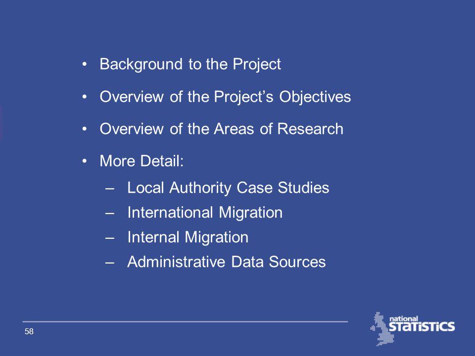 57 Improving Migration & Population Statistics (IMPS) Briony Eckstein & Kanak Ghosh
