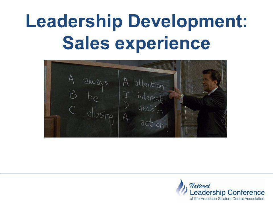 Leadership Development: Sales experience