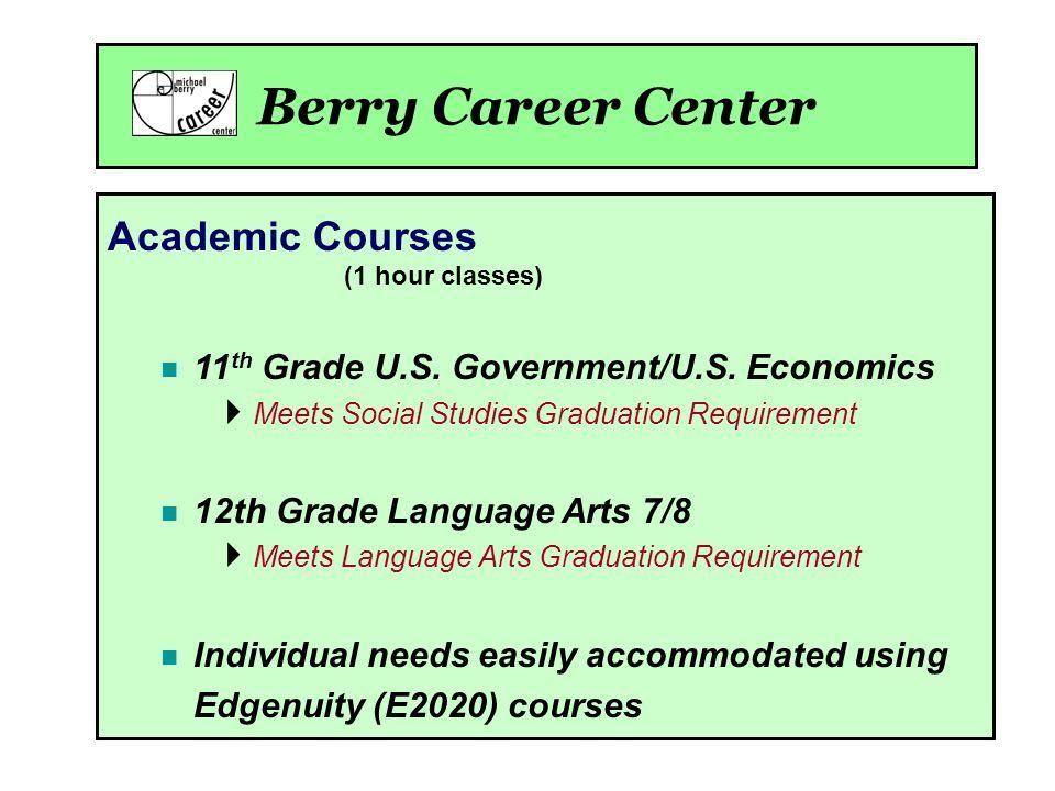 Academic Courses (1 hour classes) 11 th Grade U.S.