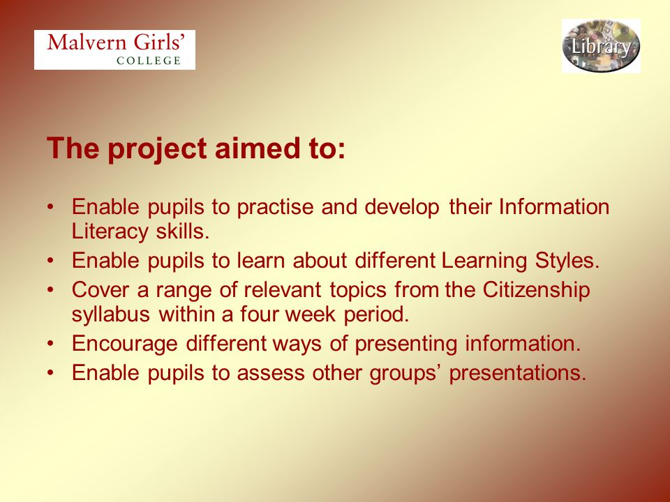 Future considerations: Introduce a reflective element in relation to the skills that have been used.