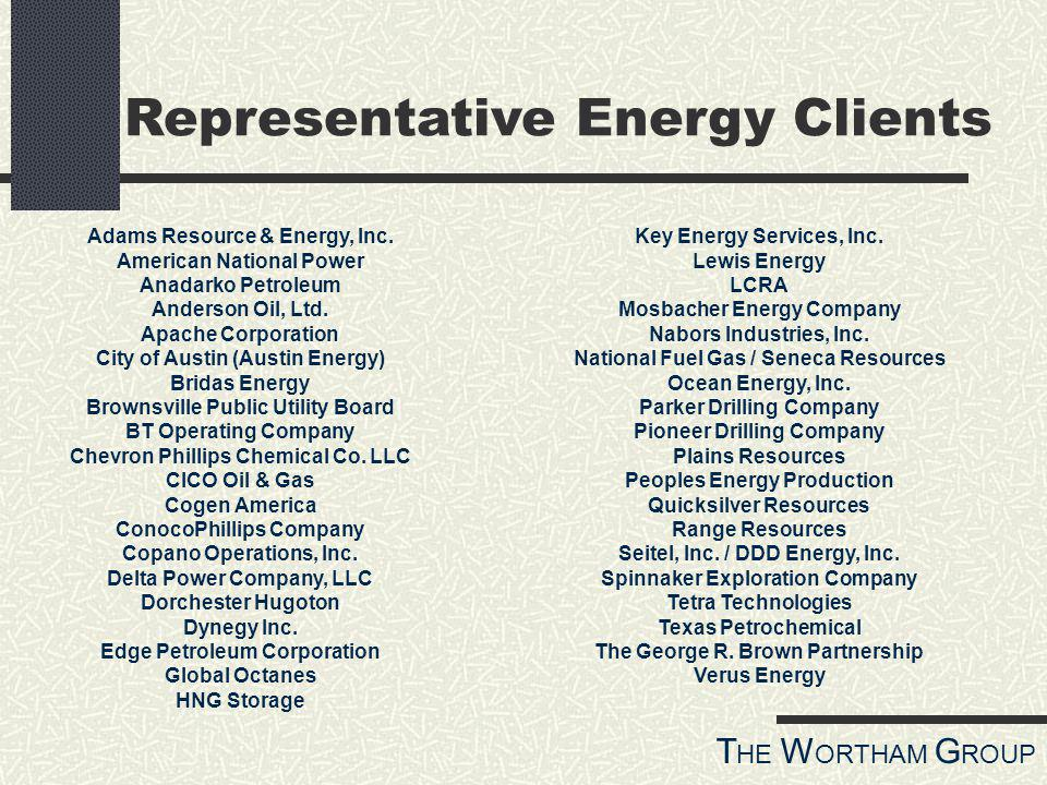 T HE W ORTHAM G ROUP Adams Resource & Energy, Inc.