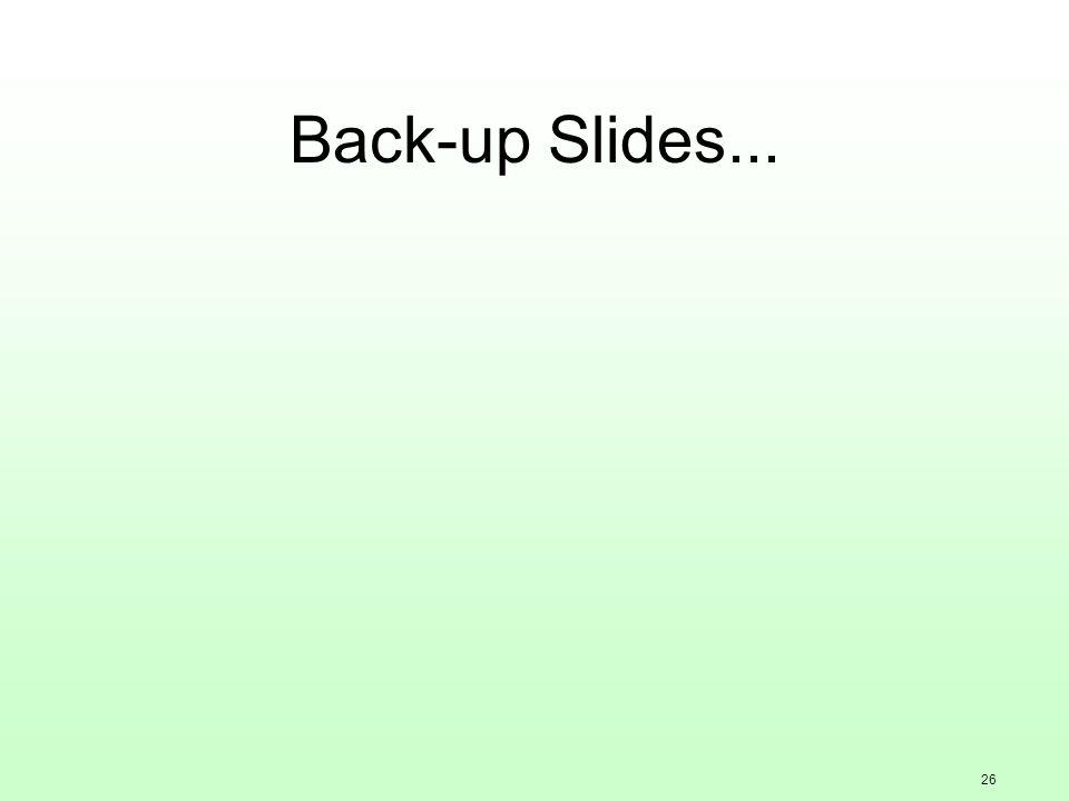 26 Back-up Slides...