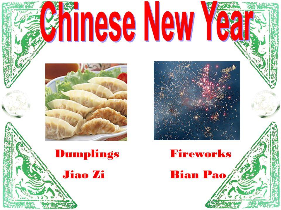 Dumplings Jiao Zi Fireworks Bian Pao