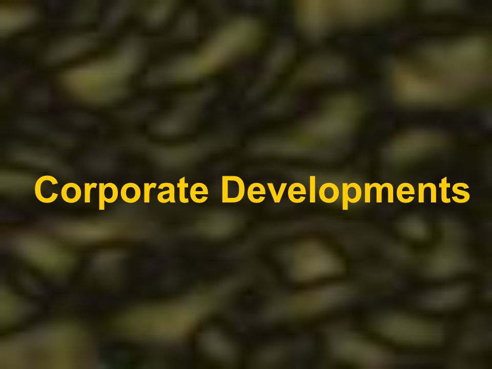 Corporate Developments
