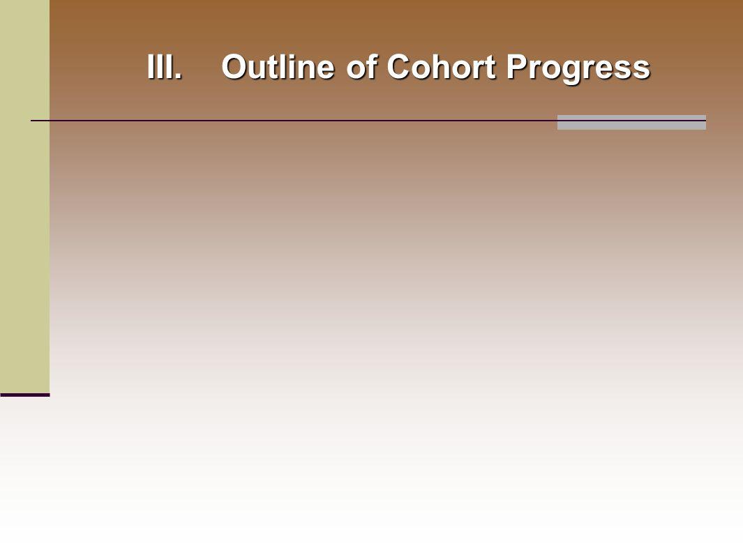 III.Outline of Cohort Progress