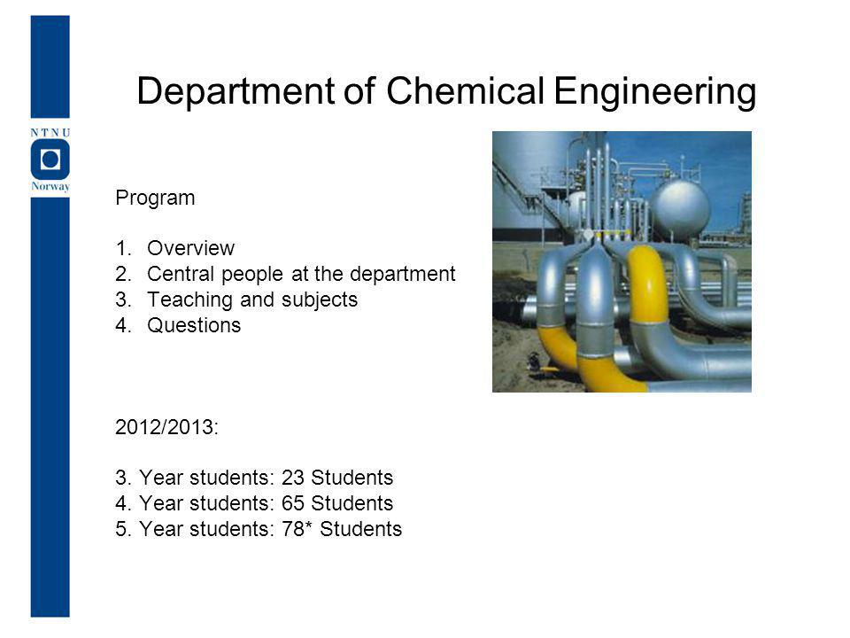 Program 1.Overview 2.Central people at the department 3.Teaching and subjects 4.Questions 2012/2013: 3.