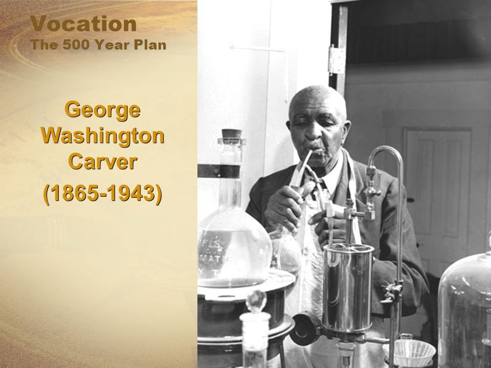 Vocation The 500 Year Plan George Washington Carver (1865-1943) George Washington Carver (1865-1943)