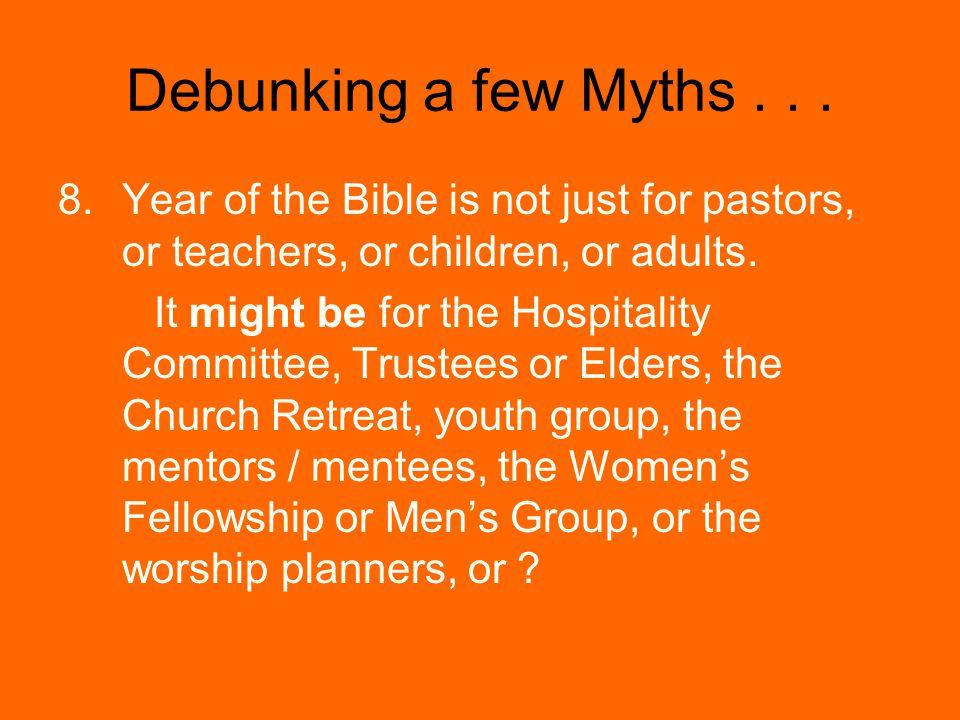 Debunking a few Myths...
