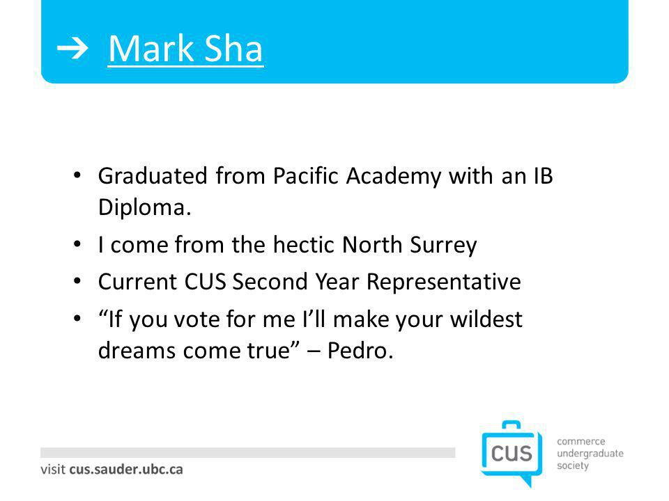 Mark Sha Graduated from Pacific Academy with an IB Diploma.