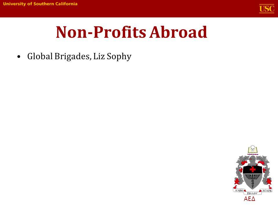 ΑΕΔ Non-Profits Abroad Global Brigades, Liz Sophy