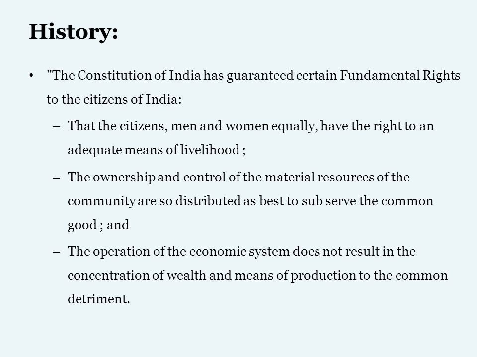 History … Set up by a Resolution of the Government of India in March 1950.