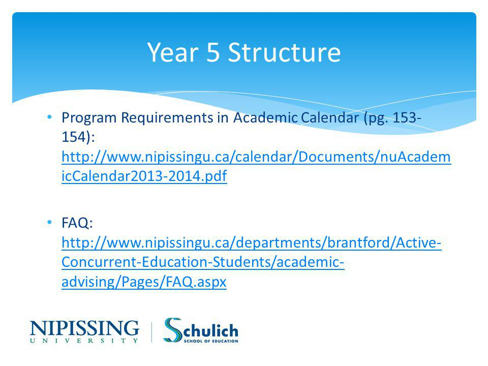 Program Requirements in Academic Calendar (pg.