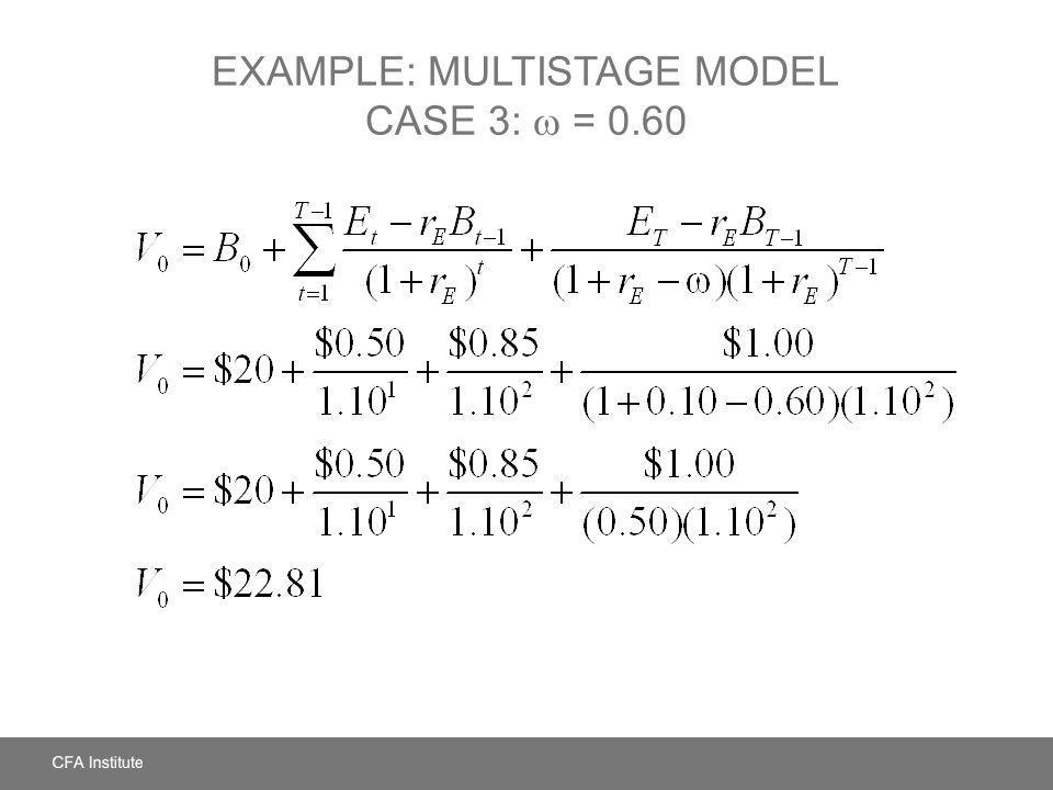 EXAMPLE: MULTISTAGE MODEL CASE 3: = 0.60
