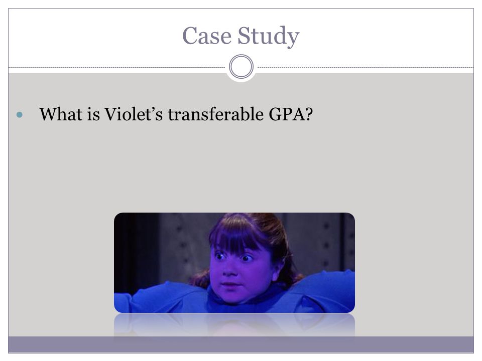 Case Study What is Violets transferable GPA?
