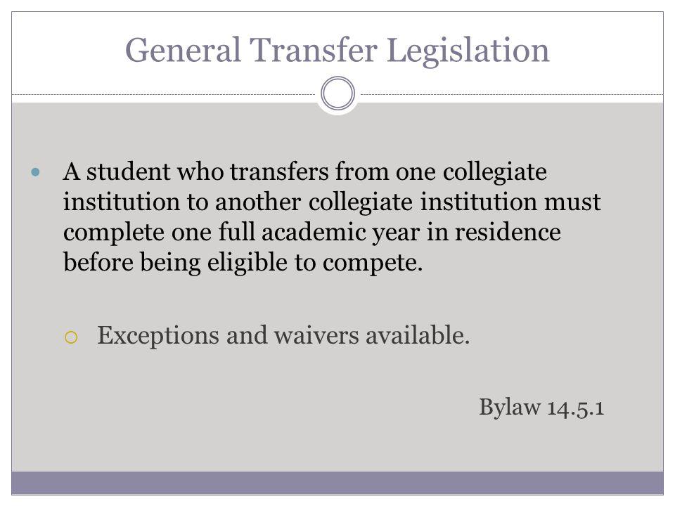General Transfer Legislation Disciplinary suspension.