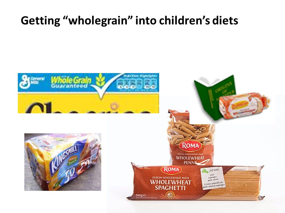 Getting wholegrain into childrens diets