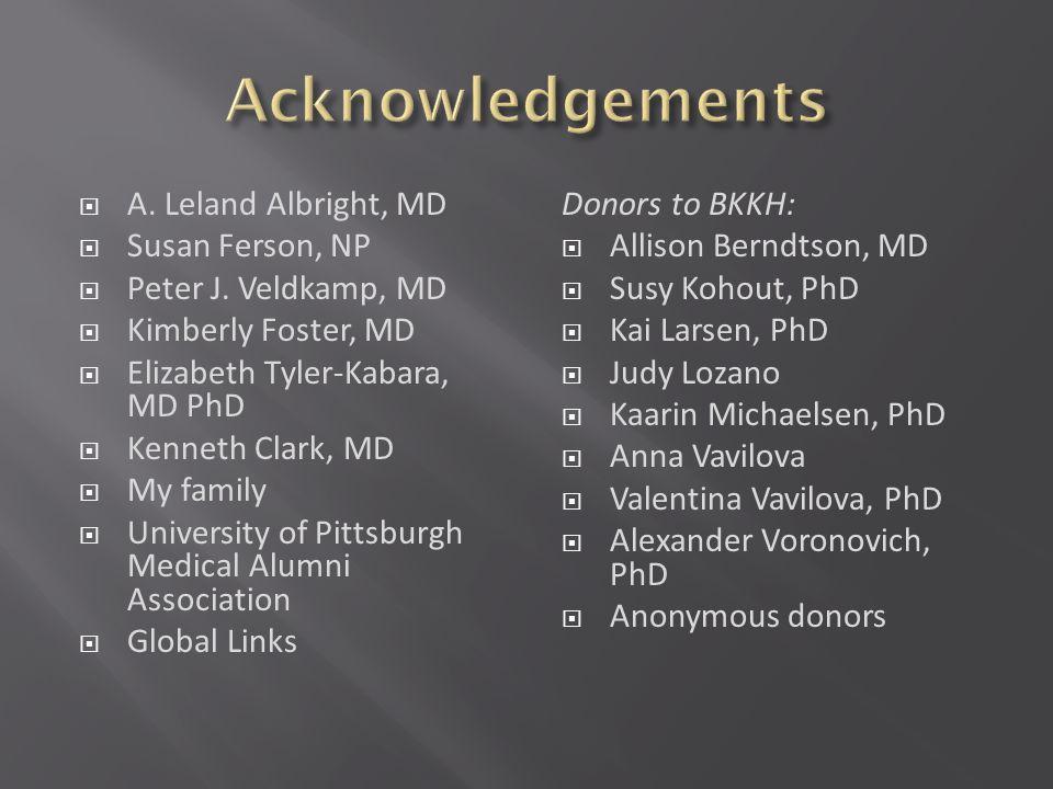 A. Leland Albright, MD Susan Ferson, NP Peter J.