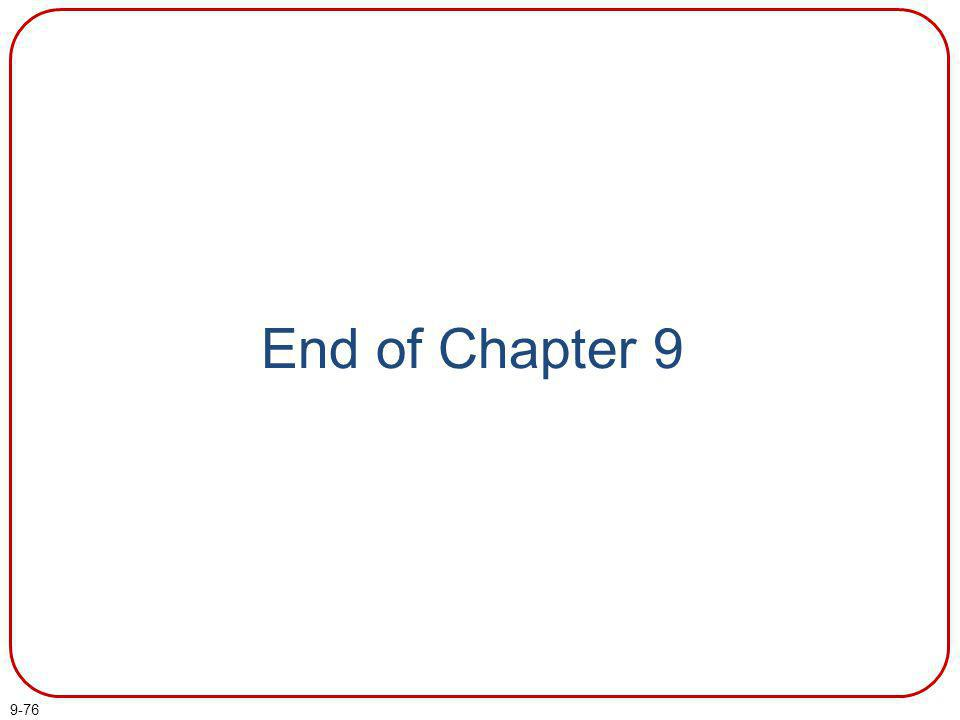 9-76 End of Chapter 9