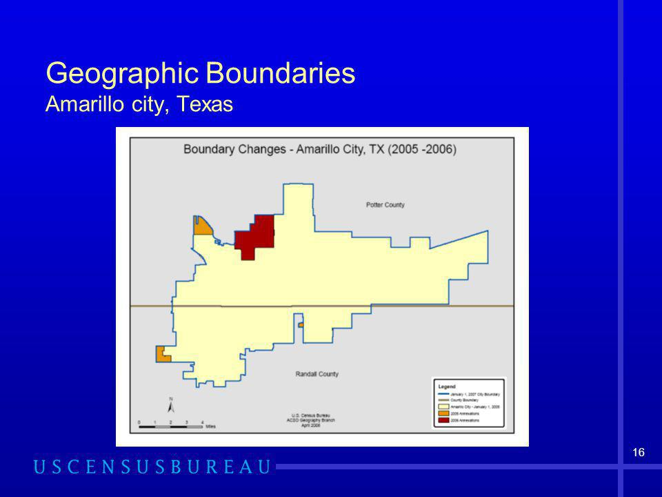 16 Geographic Boundaries Amarillo city, Texas