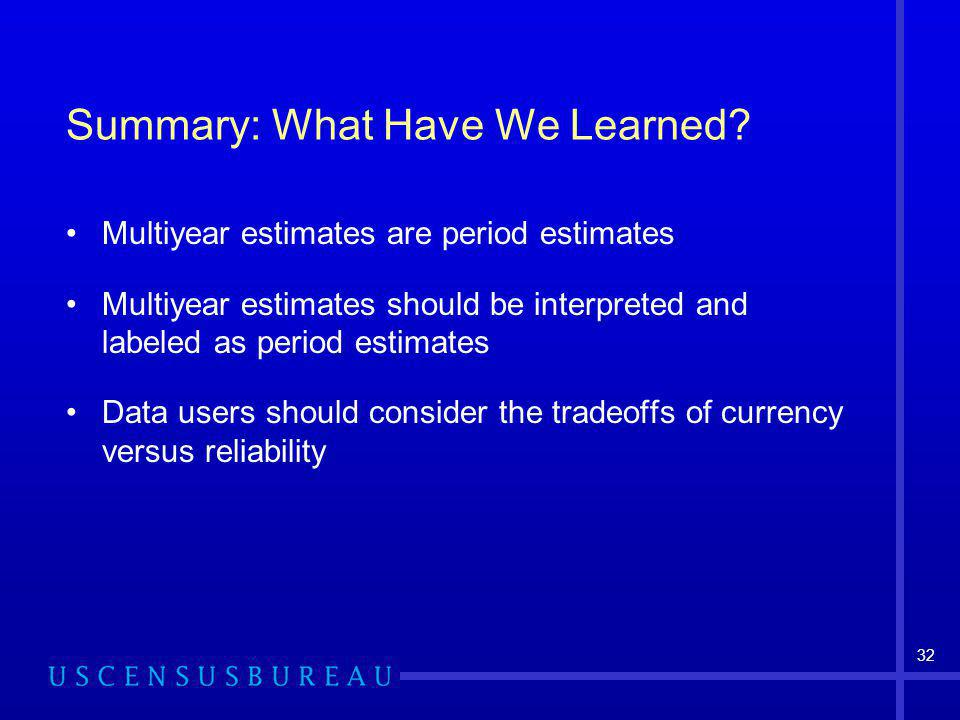 32 Summary: What Have We Learned.